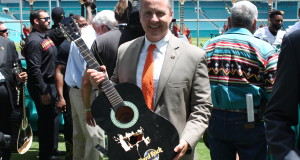 University of Miami Athletic Director, Blake James at opening of Hard Rock Stadium in Miami Gardens, FL (Football Hotbed)